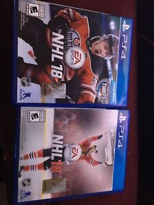 Nhl 16 and nhl 18 for sale