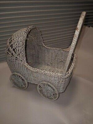 Wicker Doll Stroller