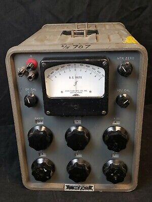 John Fluke Differential Dc Voltmeter Model 800 Voltage Meter Test Equipment Vtg