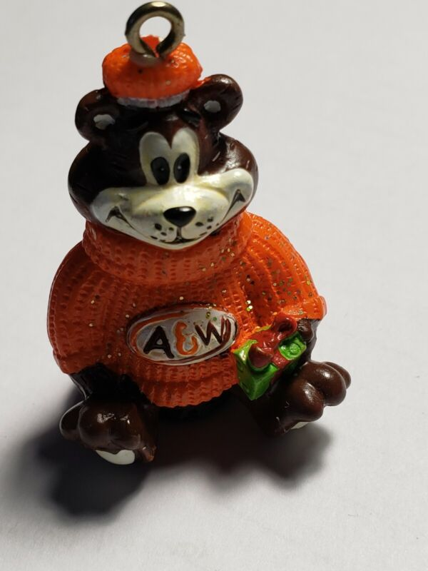 """A&W Root Beer - Great Root Bear Ornament 2.5"""" RARE USED"""
