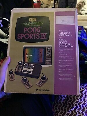 VINTAGE SEARS TELE-GAMES PONG SPORTS IV CONSOLE GAME SYSTEM ATARI *smoker Home*