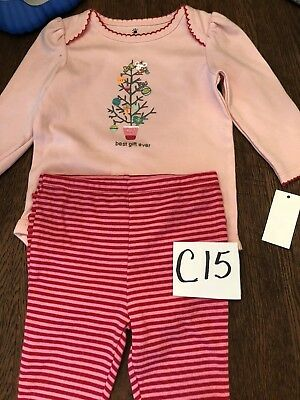 C15 SMALL WONDERS girl 2 piece Christmas outfit size 6-9 months