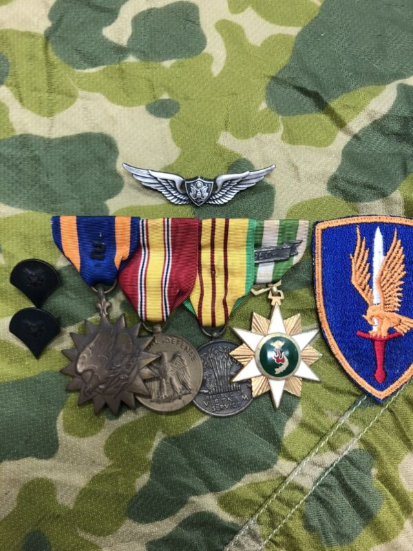 Vietnam Era Army Aircrew Wings and Medals Shipping Included