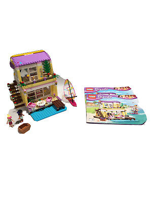 Lego Friends Stephanie's Beach House (41037) Pre-owned With Instruction Booklets