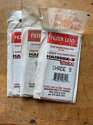 Welding Helmet Glass Filter Lens Plate 2 X 4-14 Shade 9 3pack