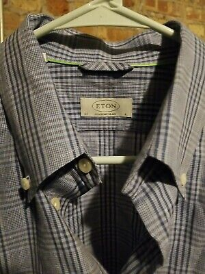 Eton 16.5 42 Contemporary Men's Long Sleeve Button Down Shirt
