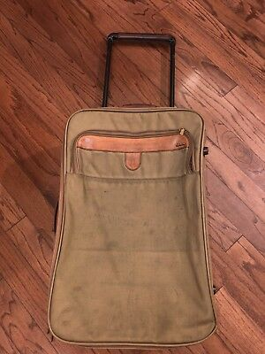(VTG Hartmann Nylon Leather Roll Aboard Rolling Expanding Suiter)