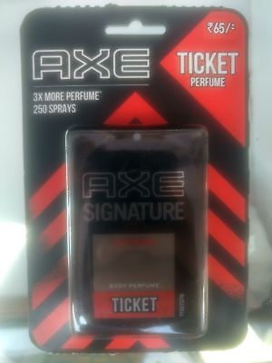 2X AXE Signature Intense Ticket Body Perfume Easy to Carry 250 Sprays - 17 ML
