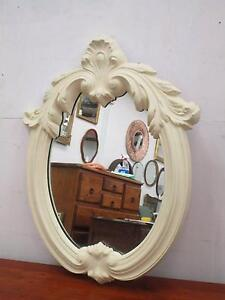 C43070 Vintage White French Provincial Style Oval Mirror Unley Unley Area Preview