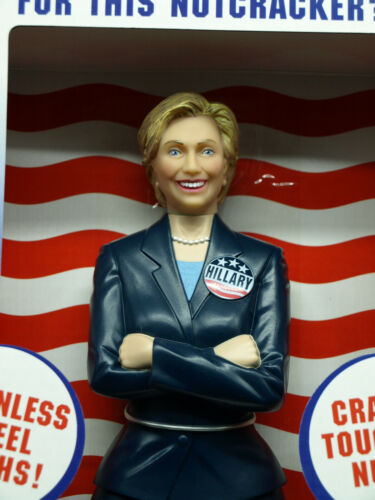 New in Box! Hillary Clinton Nutcracker Democrat Campaign Stainless Steel Thighs