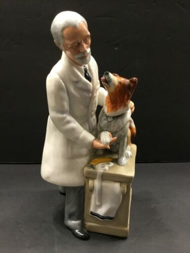 Royal Doulton Thanks Doc Veterinarian With Collie Dog Figurine Preowned