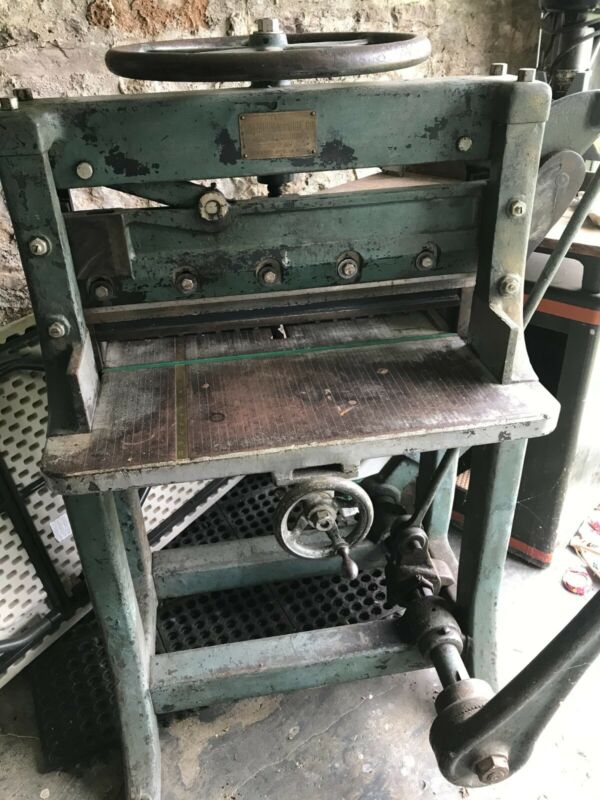 """Chandler and Price Guillotine Paper Cutter 26"""""""