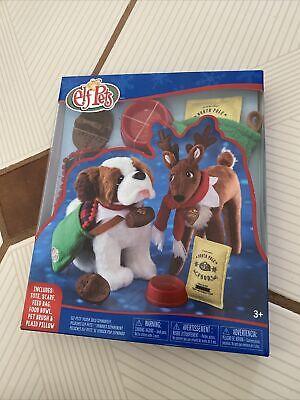 NEW Elf on the Shelf PETS Good Tidings Tote Food Scarf+ Set 6 Pcs for Plush Pets
