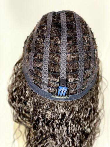 Latisha Fatima Dark Brown Wavy Long Modacrylic Synthetic Wig With Black Headband - $28.00