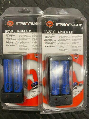 (2) Streamlight 18650 Charger Kit 120v