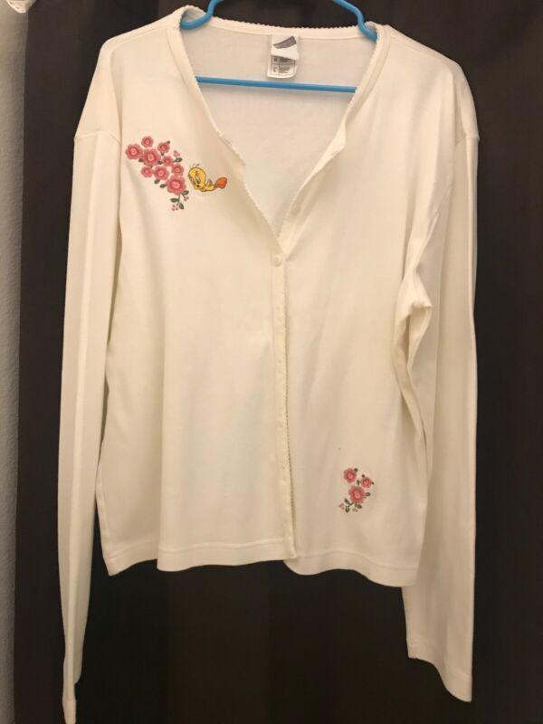 Vintage 2000 Tweety Bird White Cardigan