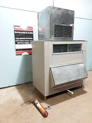 Hoshizaki Ice Machine Self Contained Air Cooled With Scotsman Ice Storage Bin