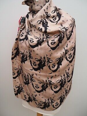 ANDY WARHOL By Pepe Jeans London - Lovely silk scarf * Marlyn Monroe
