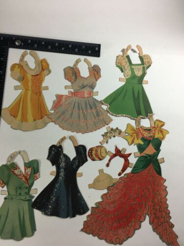 Vintage 1942 Paper doll and Dresses (7) Sonia Henning Collectibles