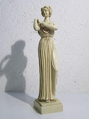 VINTAGE STATUA SCULTURA FIGURA DONNA DEA ANTICA ROMA H 40cm FIRMATA R.B.