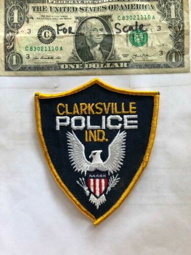 Clarksville Indiana Police Patch Un-sewn great shape