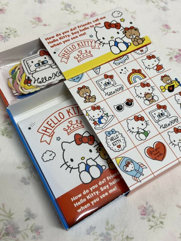 Sanrio Hello Kitty LIMITED Sticker Flakes And Memo Pad Set