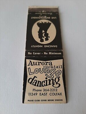 Vintage Aurora Illinois Hotel and Dancing Matchbook Cover
