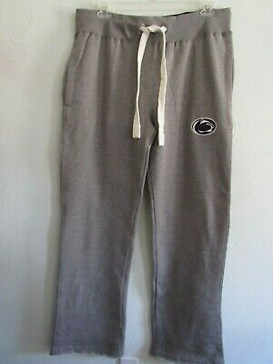 Penn State Nittany Lions NCAA Gray Unisex Cotton Poly Sweat Pants Size XL NWT