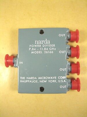 Narda 26166 Power Divider 7.84-11.64ghz