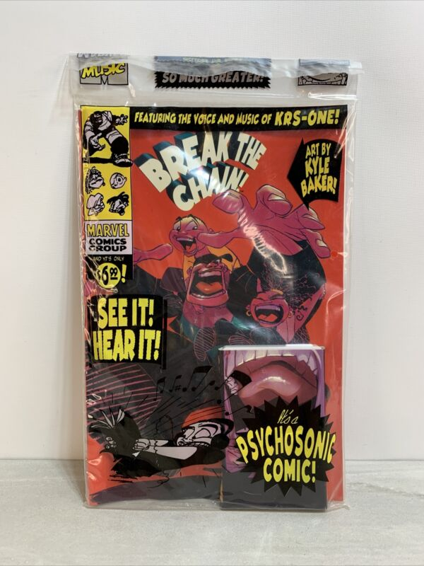 BREAK THE CHAIN #1 EXTREMELY RARE MARVEL MUSIC SEALED COMIC WITH CASSETTE!!🔥🔥