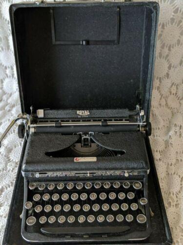 Heier Office Machine Co Royal Portable Typewriter Vintage Benton Harbor Michigan