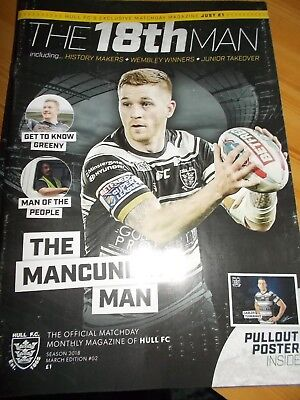 Hull FC v Warrington Wolves & Catalans Dragons magazine programme March 2018