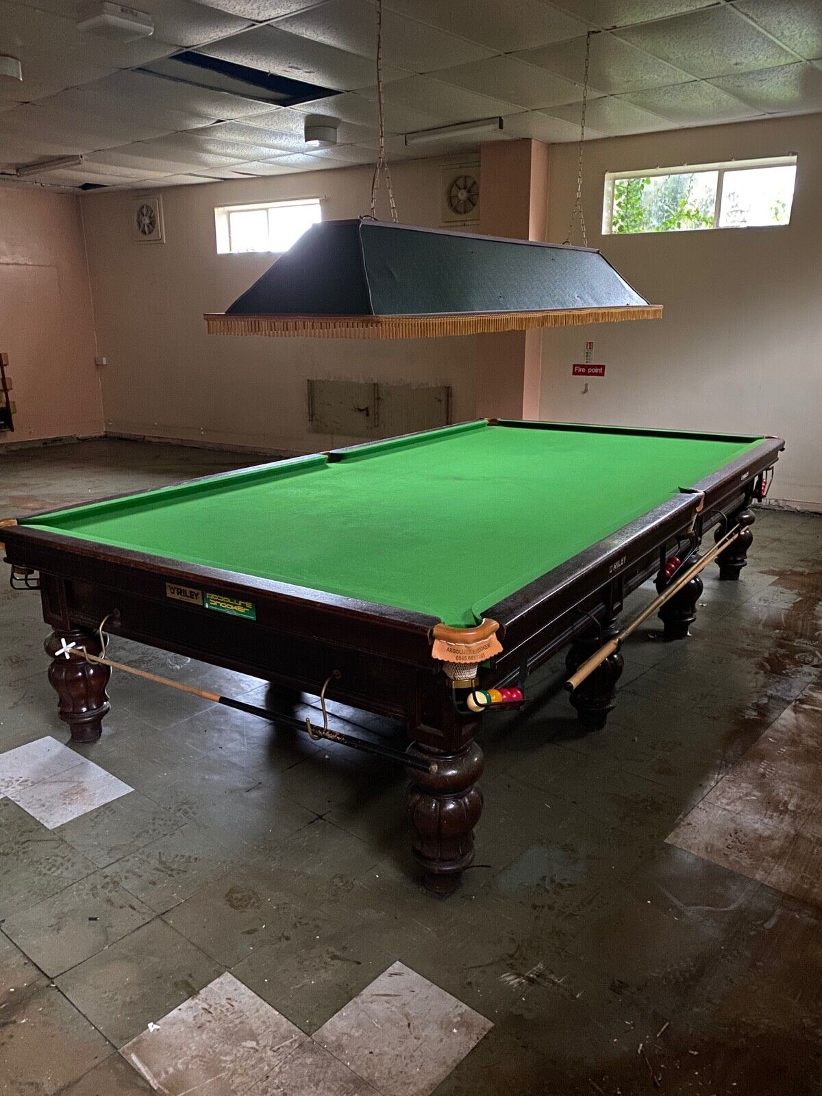 Riley full size snooker table.