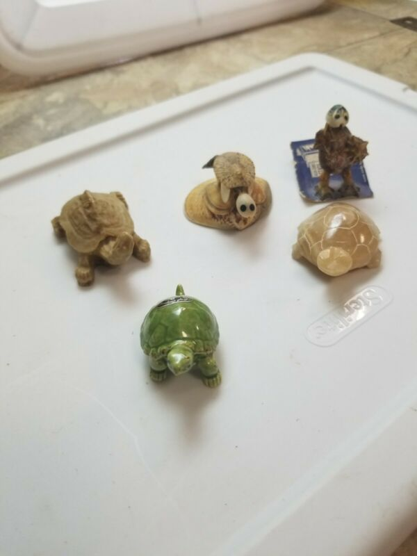 Lot of 4 Turtle Figurine and more...SEE DESCRIPTION