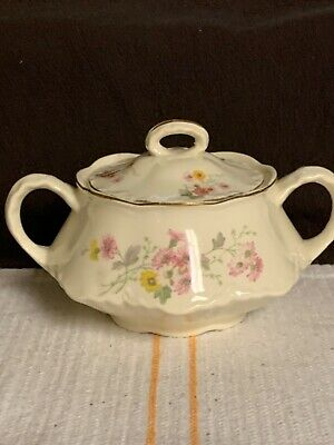 Vintage Homer Laughlin Covered Sugar Bowl December 1947