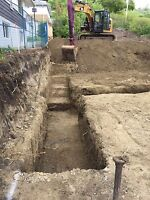 Excavating, concrete , framing , landscaping
