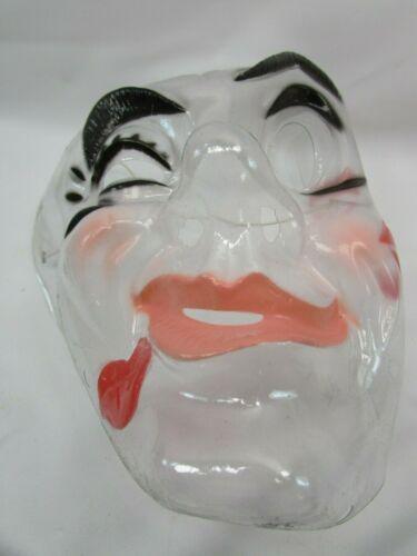 Vintage Transparent Mask Halloween Mime Hong Kong Clear Winking 33552