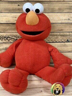 "Big Book Elmo Plush Toy Stuffed Animal 2002 30"" Large Fisher-Price Sesame Street"