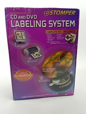 Cd Stomper Cd And Dvd Labeling System New In Box