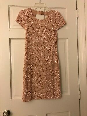 Alice & Olivia Pink Sequin Cap Sleeve Dress  ()