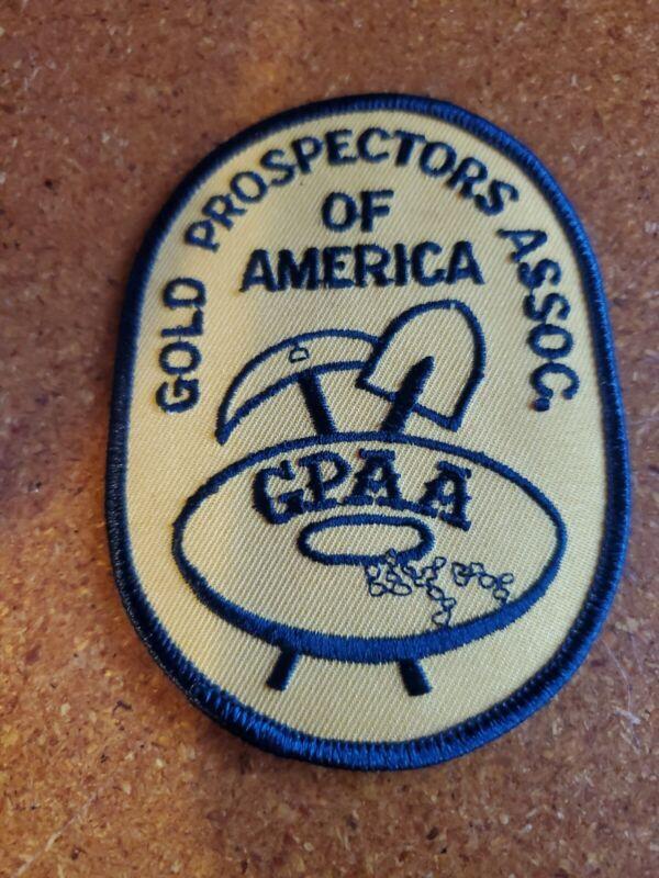 GPAA Gold Prospectors Assoc of America Member Patch