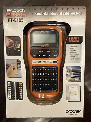 New Brother P-touch Edge Pt-e105 Handheld Industrial Cable Wire Label Maker