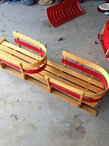 Wooden double sled
