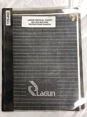 Lagun Vertical Turret Milling Machine Ftv-4l Instruction Manual