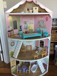 Large corner doll house from toys r us