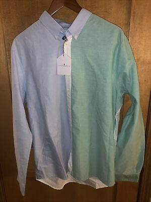 NEW Cuisse de grenouille Mens Multi-Color Long Sleeve Button Down Shirt - XLarge