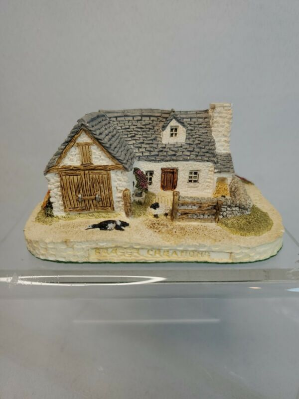 FRASER CREATIONS Miniature Hand Painted SHEEP FARM RARE Model Made in Scotland
