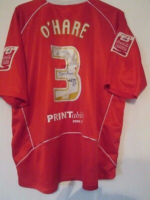 Chesterfield Match Worn O'Hare 2007-2008 Signed Away Football Shirt XL /42037 image