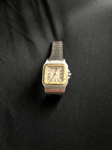 Vintage CARTIER Santos Galbee 1566 Quartz 18K Gold & Steel 29 mm – Works Well - watch picture 1