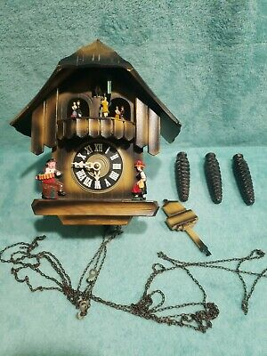 Vintage Germany Black Forest Chalet Style Cuckoo Clock Please Read Description*